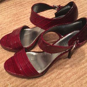 Whbm burgundy heels